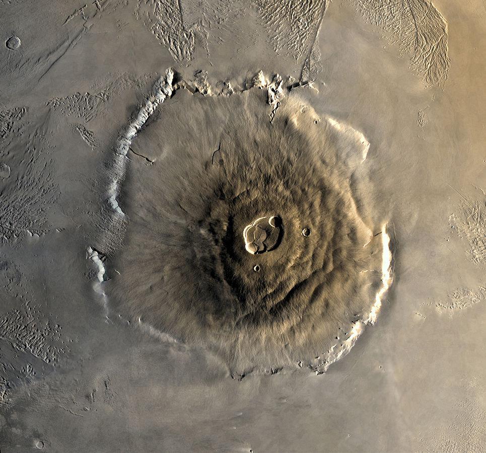 An image of Olympus Mons as taken by Viking 1